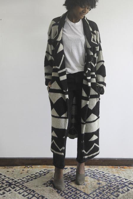 The Shudio Vintage Oversized Geometric Sweater