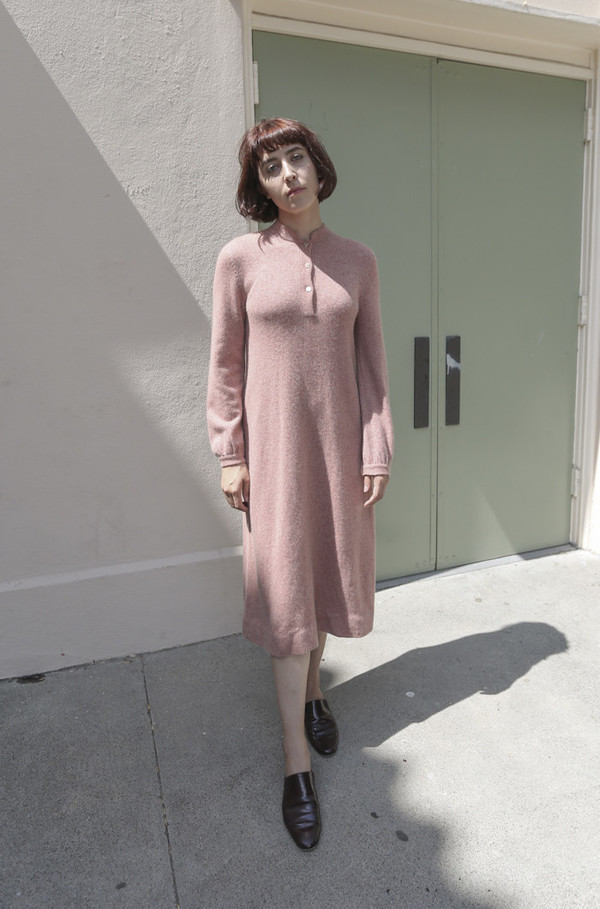 NONNA Vintage Halston 1970's Cashmere Knit Dress