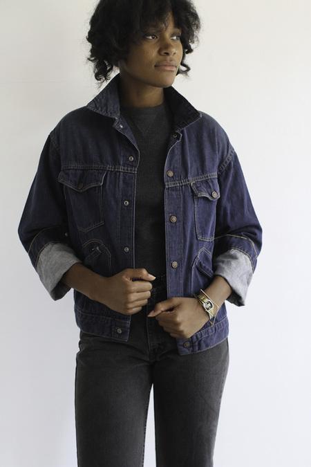 The Shudio Vintage  Dark Denim Western Jacket