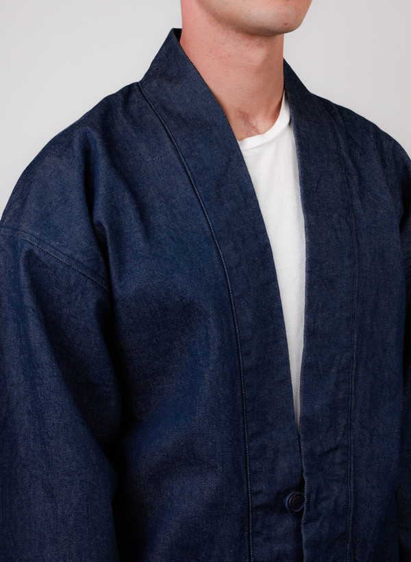 "Blue Selvedge Denim ""Haori"" Style Jacket"