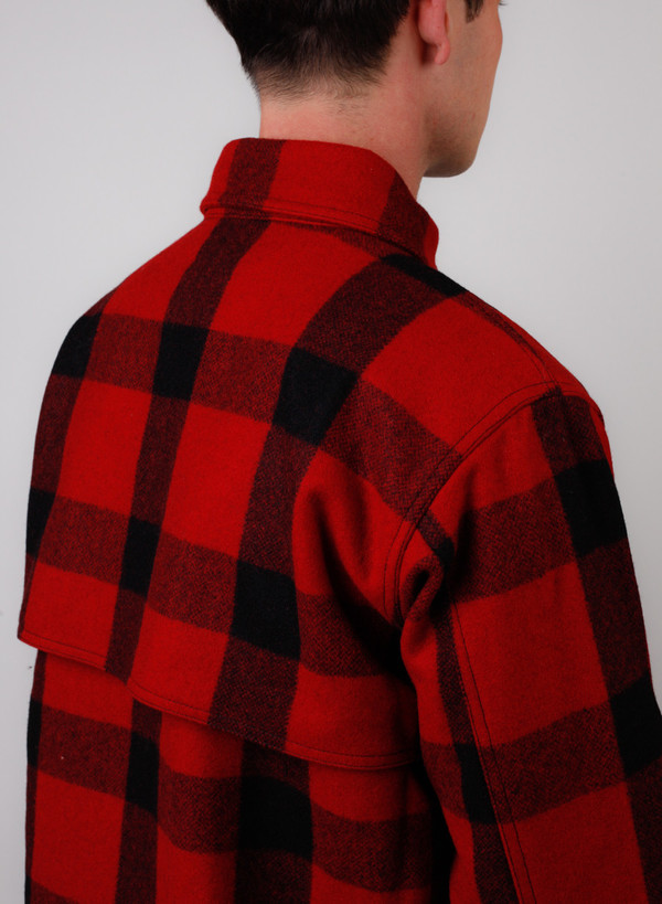 Men's Needles Cruiser Jacket - Melton Buffalo Plaid