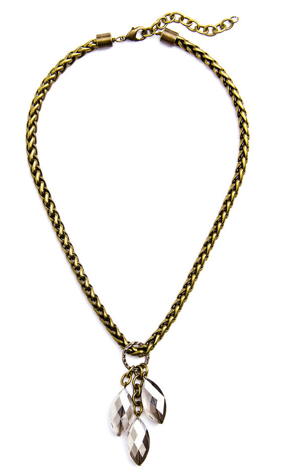 Grayling Nina Necklace in Antique Brass