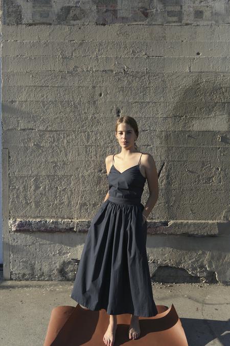 O-M | Flare Dress, Navy