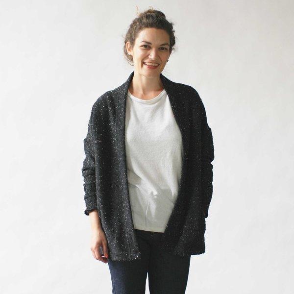 Make It Good Pebble Knit Cardigan in Black