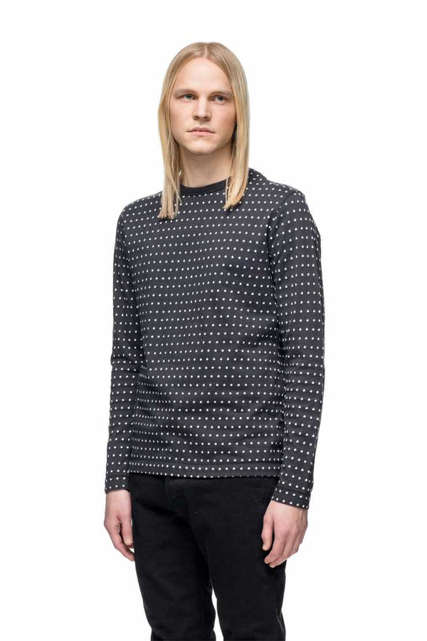 Men's OUR LEGACY - Long Sleeve Tee Jacquard Dot
