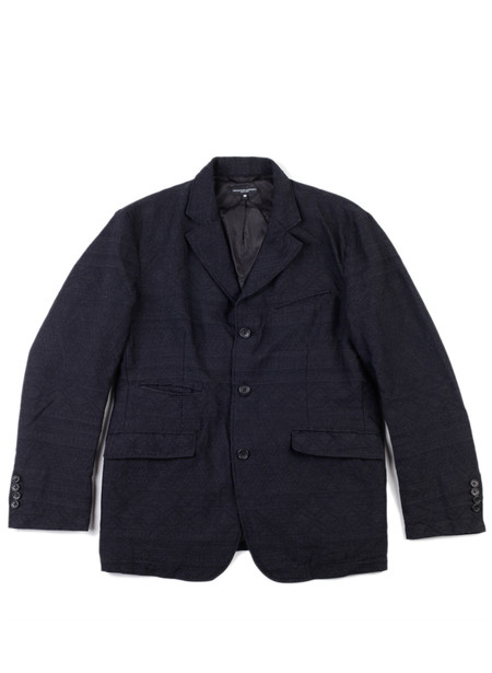 Men's Engineered Garments Andover Jacket Charcoal Wool Geo Jacquard