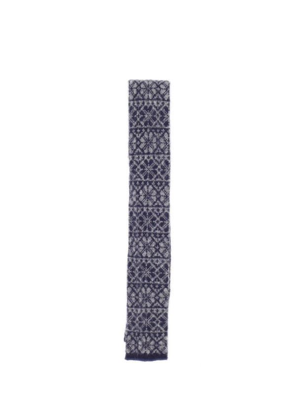 Engineered Garments Cashmere Knit Tie Navy Fairisle