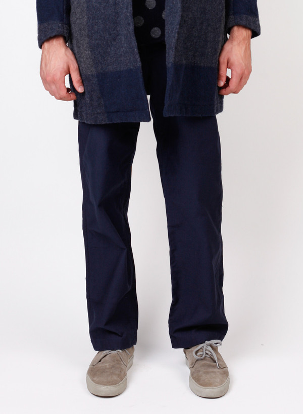 Men's Engineered Garments Fatigue Pant Dk. Navy Cotton Reversed Sateen