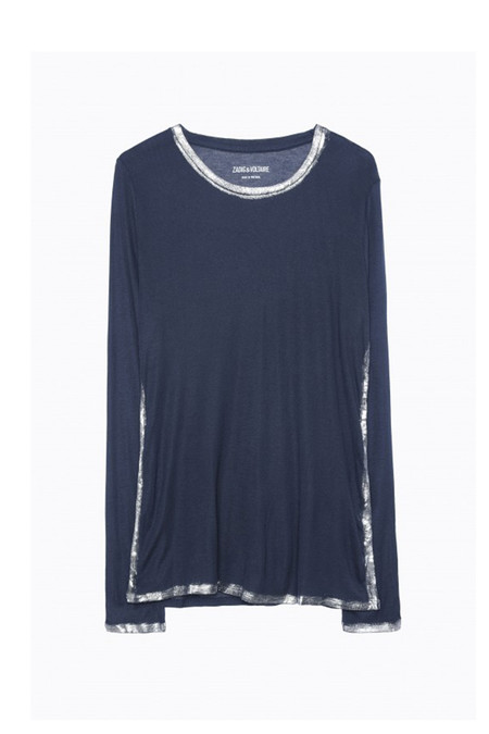 Zadig & Voltaire Willy Foil Spray   Navy