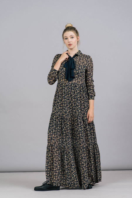 Ganni Bartlett Georgette Maxi Dress