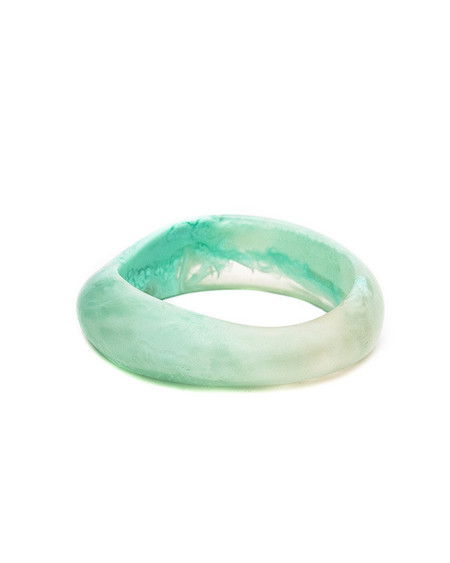 Dinosaur Designs Large Organic Bangle in Duck Egg Swirl