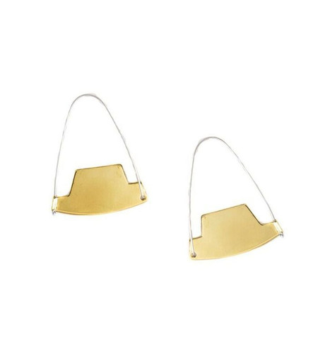 Erin Considine Arch Hoops in Brass + Sterling Silver
