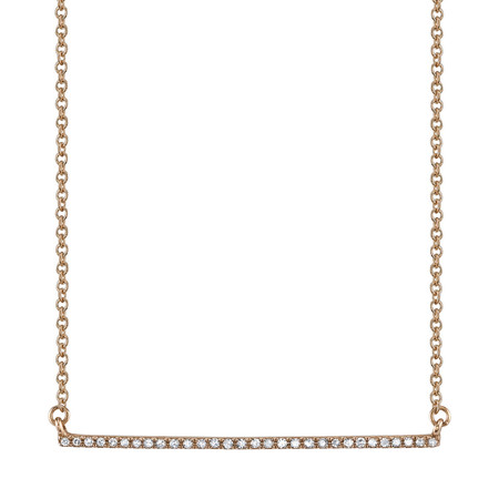 Gabriela Artigas Pave Bar Necklace in Rose Gold