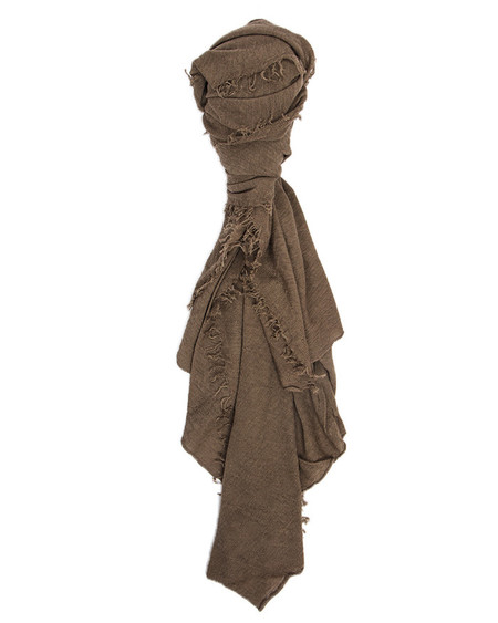 Grisal Isola Cashmere + Silk Scarf in Khaki