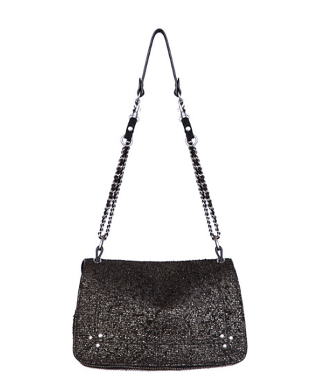 Jerome Dreyfuss Bobi Bag in Lamine Black Suede