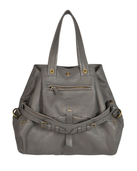 Jerome Dreyfuss Medium Billy Bag in Grey Goatskin