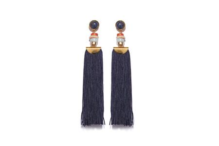 Lizzie Fortunato Indigo Tassel Earrings