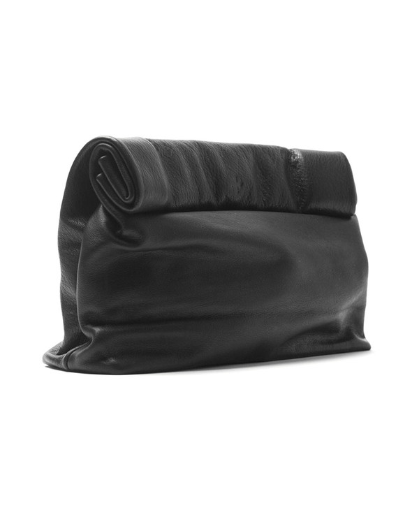 Marie Turnor Lunch Clutch in Black Pebble