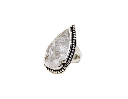 Pamela Love Arrowhead Ring in Sterling Silver with Quartz