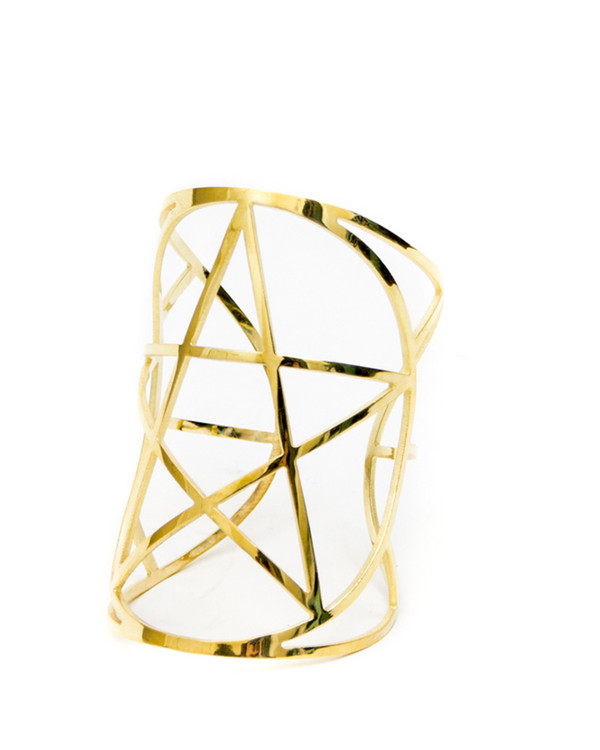 Pamela Love Mini Pentagram Cuff in Gold