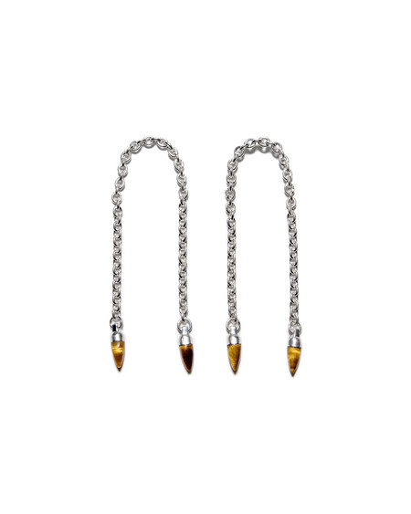 Pamela Love Silver Suspension Arch with Tiger's Eye