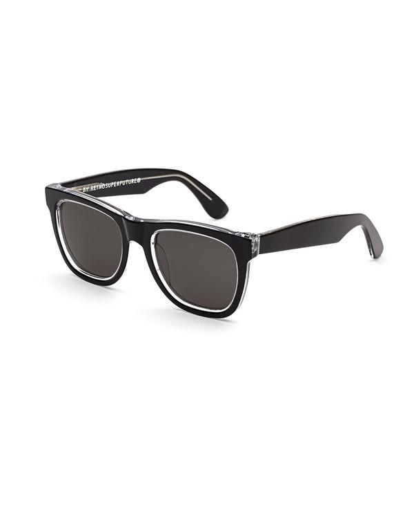 RetroSuperFuture Classic Achromatic Sunglasses in Black