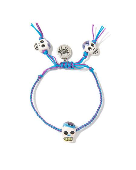 Venessa Arizaga Floral Skull Bracelet