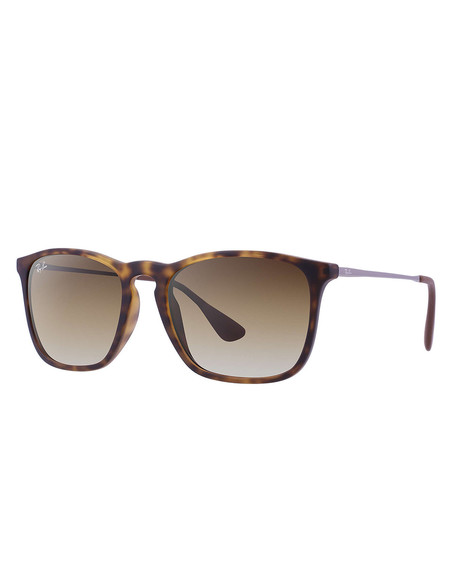 Ray-Ban Chris Sunglasses Havana Rubber
