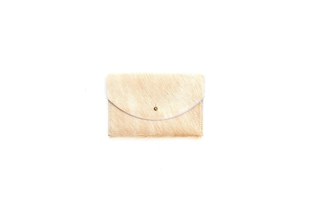 Primecut TAN COWHIDE PASSPORT CLUTCH