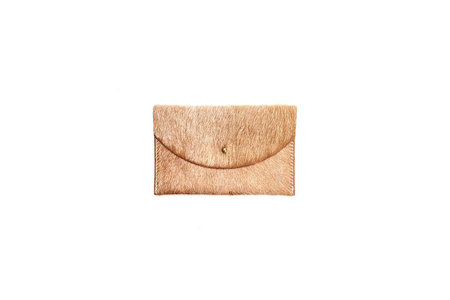 Primecut LIGHT BROWN COWHIDE PASSPORT CLUTCH