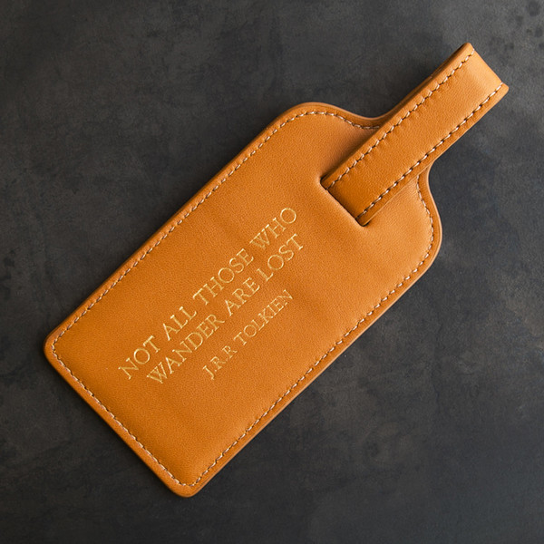 Kempton & Co Luggage Tag Tan