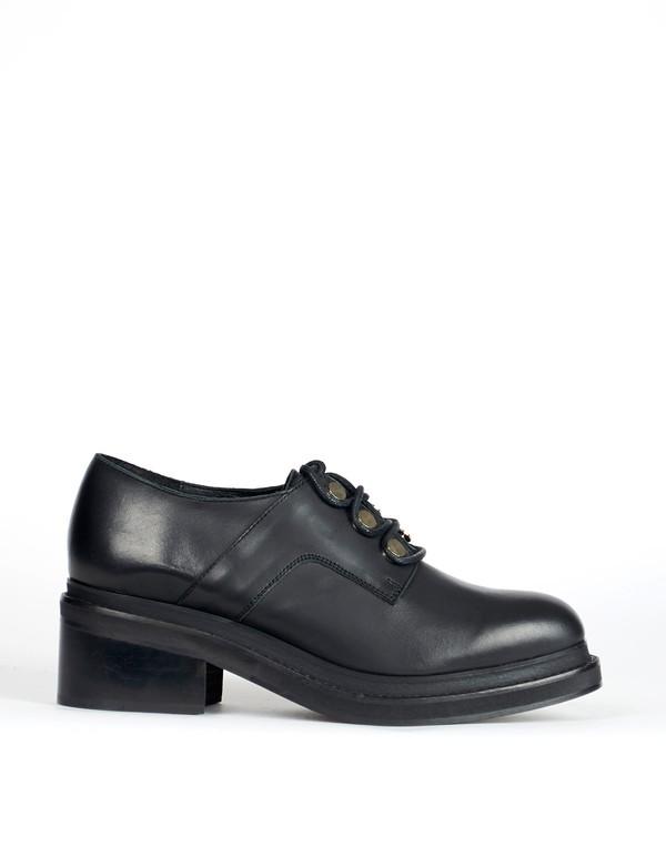 Miista Carey Lace-Up Boot Black