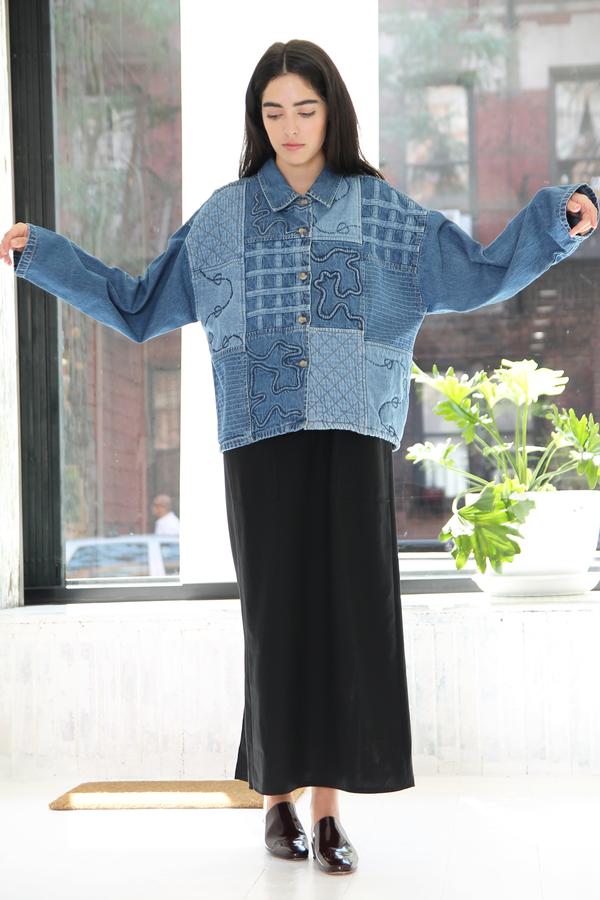 DUO NYC Vintage Blocked Denim Jacket