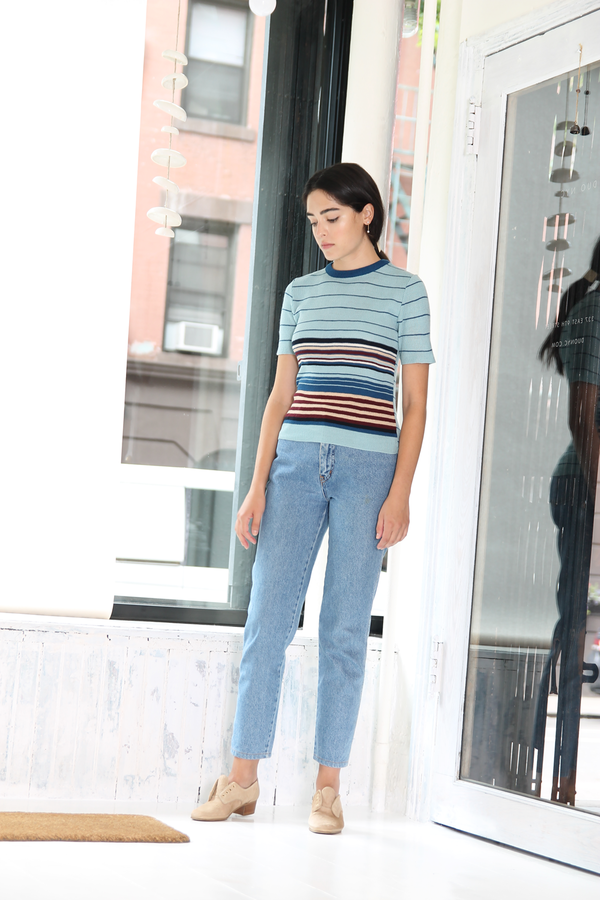 DUO NYC Vintage Stripe Sweater Tee