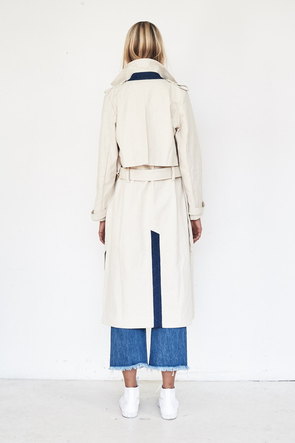 Sandy Liang Canvas Casey Trench