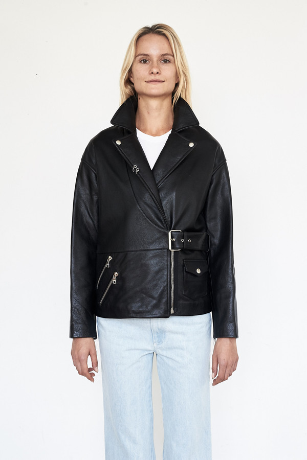 Sandy Liang Leather Biker Jacket