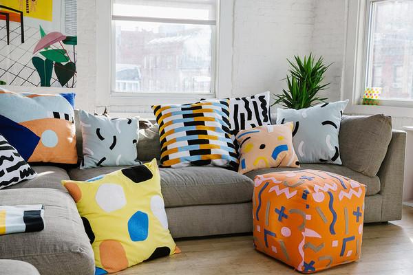 Dusen Dussen Large 'Bricks' Pillow
