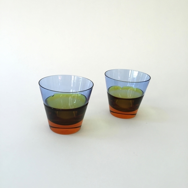 GLASS,SUGAHARA,JAPANESE JAPANESE DUO - DIPPED OLD FASHIONED GLASS