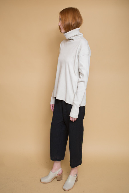 Kowtow Building Block Rib Roll Neck Top / Ivory