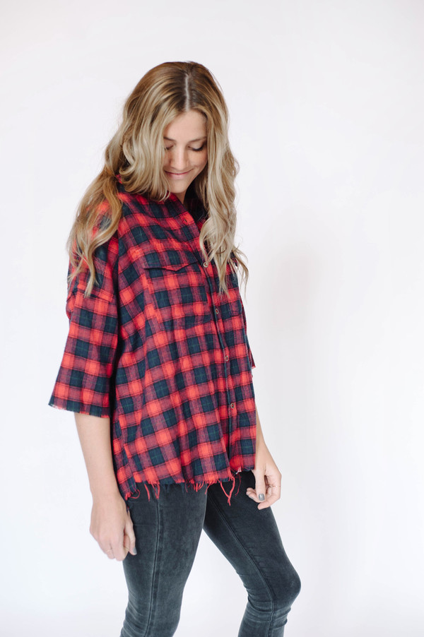 Sunday Supply Co. Fringe Plaid