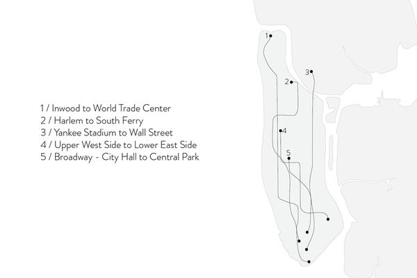 Shahla Karimi 14K Gold Subway Fine Ring - Central Park to City Hall