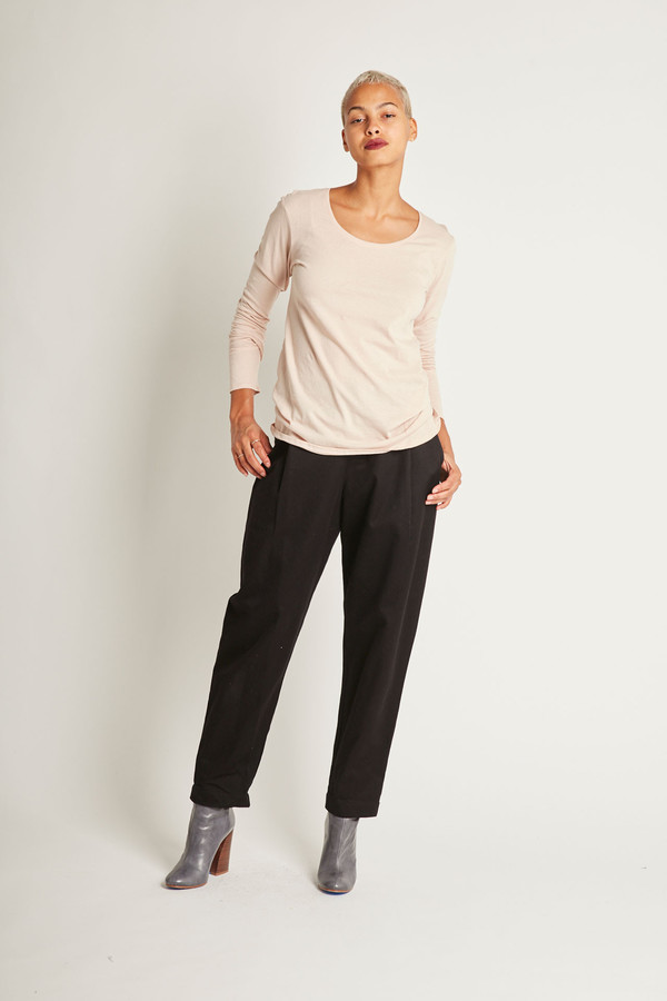 Kowtow Building Block Long Sleeve Top in Blush