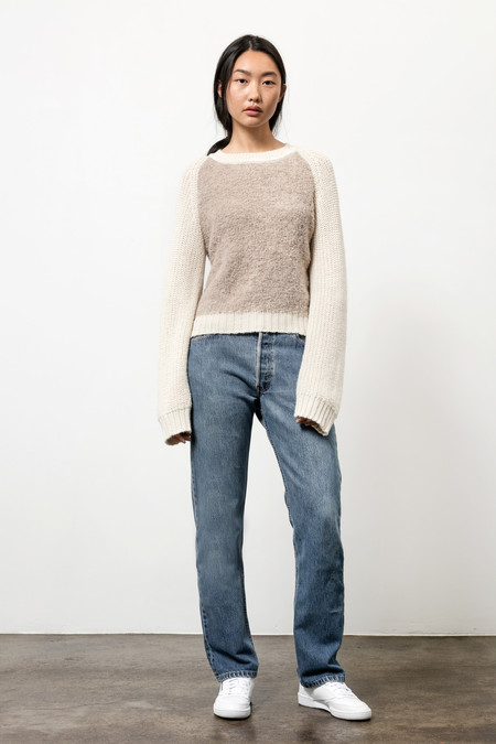 Osei-Duro Boucle Pullover Sweater in Desert