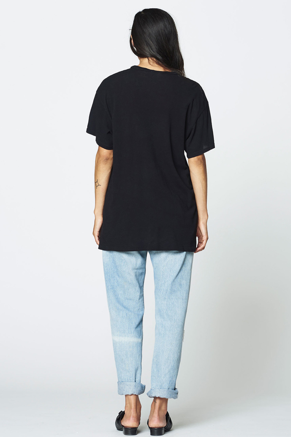 LACAUSA Vintage Tall Tee- Black