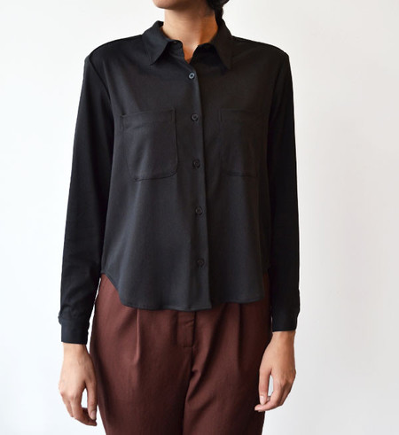 Steven Alan Black Composition Shirt