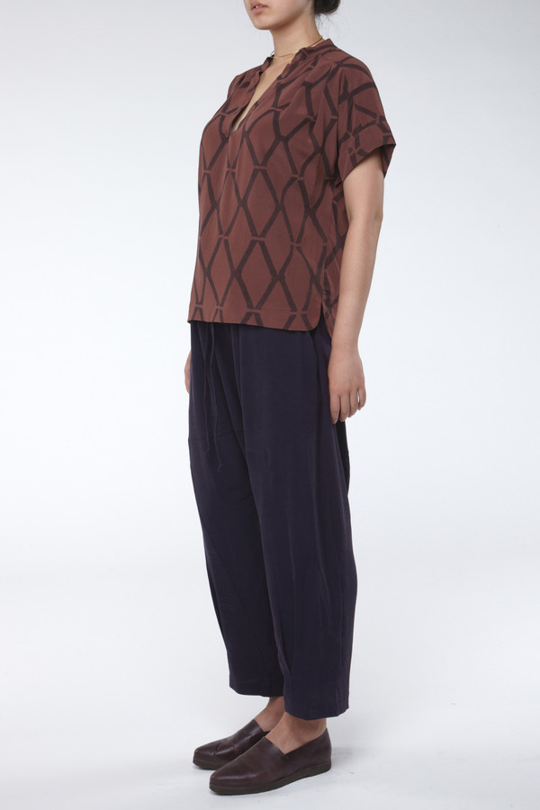 Seek Collective Stephanie Top Siena Diamond Print