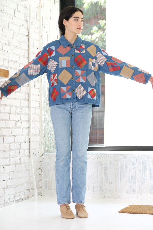 DUO NYC Vintage Denim Patchwork Jacket