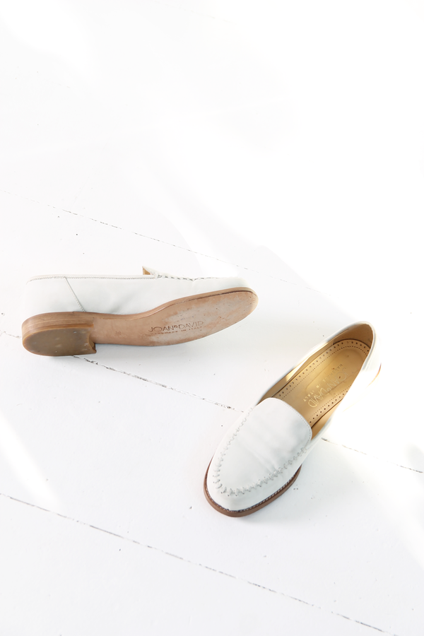 DUO NYC Vintage White Nubuck Loafer
