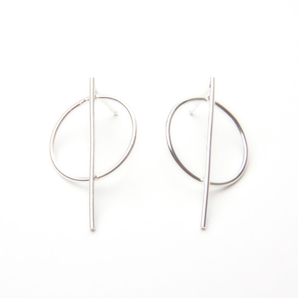 Drift/Riot Circle Line Earrings