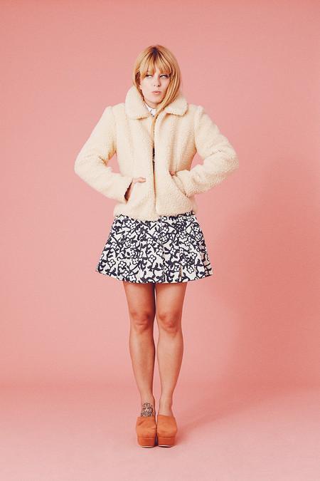 Samantha Pleet Sheep Coat - Ivory